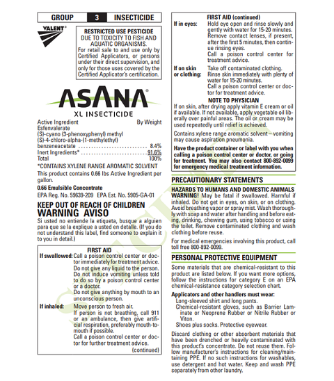 Asana XL Insecticide