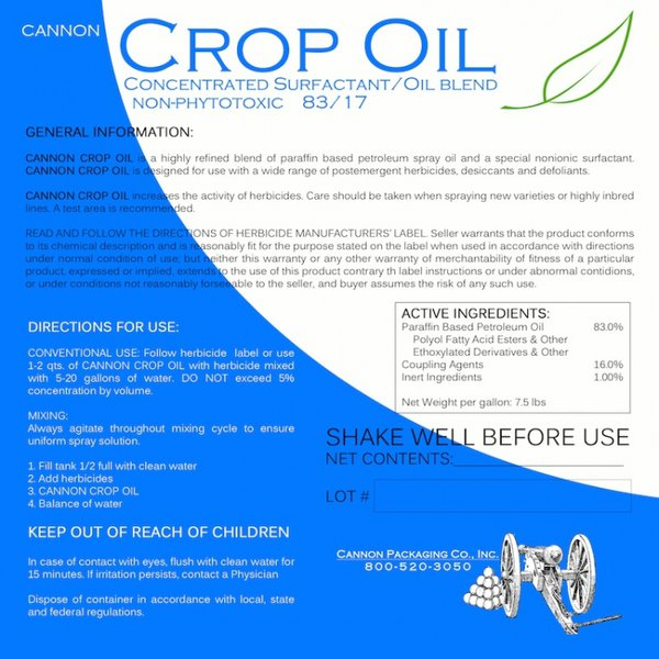 Cannon Crop Oil Adjuvant