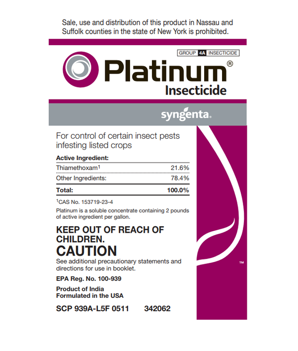 Platinum Insecticide Label